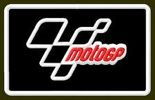 "MOTO GP EMBROIDERED PATCH ~3-7/8"" x 2-3/8"" MOTORCYCLE BORDADO PARCHE AUFNÄHER"