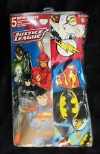 New DC WB 5 Pack Boy briefs underwear sz 6 red blue white Superman Batman cotton