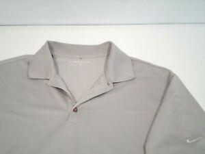 Nike Stretch UV Tech Solid Golf Polo Shirt Men's Size XL Gray Dri-Fit 358324-012