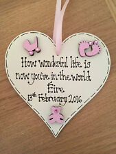 Wooden Heart Baby Decorative Plaques & Signs