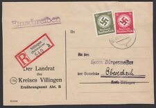 GERMANY, 1945. Cover Official 172,175, Villingen - Oberasbach