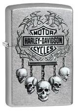 Spring 2018! Zippo en TU MECHERO Harley Davidson-hanging Skulls calavera nuevo embalaje original