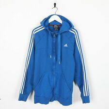 Vintage ADIDAS Small Logo Zip Up Hoodie Sweatshirt Blue XL