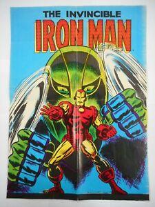 VERY RARE 1976 NABISCO WEETIES NEWTON MARVEL COMIC IRON MAN CEREAL BOX POSTER