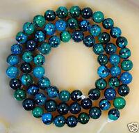 "6mm 8mm 10mm Man made Azurite Chrysocolla Round Gemstones Loose Beads 15""AAA"