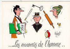 Carte postale HUMORISTIQUE HUMOUR OZIOULS les ennemis de l'homme
