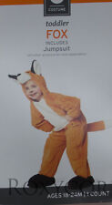 Halloween Toddler Brown Fox Jumpsuit Plush Costume Size 4T-5T NWT