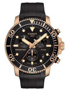 NEW - Tissot T120.417.37.051.00 Seastar 1000 Rose Gold Mens Watch T1204173705100