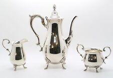 STERLING SILVER COFFEE TEA SET 925 TEAPOT  / SUGAR BOWL / CREAMER