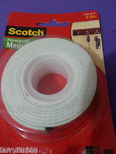 3M Scotch # 114 Mounting Tape Heavy Duty Holds upto 2 lbs *Big Sales* 1 roll