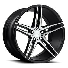 "20"" Niche Wheels M169 Turin Black Brush Rims and tires with TPMS"