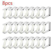 8 x Stainless Steel Tablecloth Clips Table Cloth Clips Clamps Clip. en Ke
