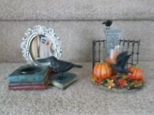 YANKEE CANDLE Raven Gates Votive Candle Holder - Raven Crow Mirror T/L Holder