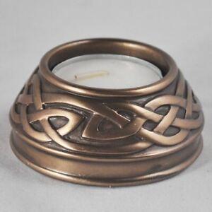 Bronze Effect Celtic Candle Holder Pagan Decor Altar Ornament