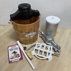 Aroma 4 Qt Traditional Ice Cream Freezer Homemade maker Hand Crank or Electric