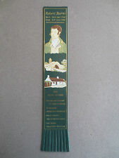 BOOKMARK LEATHER Robert Burns 1759 - 1796 The Book Worms Green Gold
