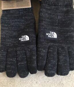 The North Face Etip Salty Dog Knit Suede Tech Gloves Black Large/ X-Large Men's