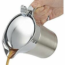 STAINLESS STEEL GRAVY SAUCE BOAT JUG DOUBLE INSULATED POURER LARGE 400ML