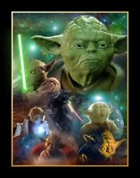 Star Wars Yoda Collage Movie Poster Canvas Wall Art Film Print Sc-Fi