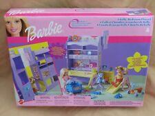 New Barbie Doll Sister Kelly Bedroom Playset Set 2001 by Mattel (88703) Purple