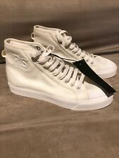 Adidas By Raf Simons Spirit Canvas High-Top Sneakers Off-White Size 6.5 NEW