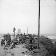 WW2 Photo WWII British 17 pdr. Anti-Tank Gun Nijmegen Bridge World War Two/ 1689