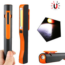 COB LED Rechargeable Magnetic Pen Clip Hand Torch Work Light Inspection Lamp
