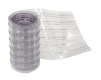 """12"""" x 12' Scratch Resistant Ribbed Clear Strip for Strip Curtains, Lot of 1"""