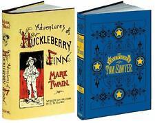 ADVENTURES OF TOM SAWYER + HUCKLEBERRY FINN ~ MARK TWAIN ~ 300+ ILLUSTRATIONS HC