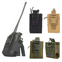 Tactical Nylon Molle Walkie Talkie Holder GPS Bag Radio Pouch Magazine Holster