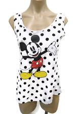 Cotton On Disney Mickey Mouse White Black Polka Dot Singlet Top Size XS
