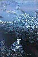 Rio De Janeiro By Marilyn Bridges Black & White Out Of Print Poster 24 x 36