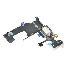 Headphone Audio Dock Connector Charging USB Port Flex Cable iPhone 5  White