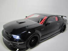 1/10 Scale FORD MUSTANG  RTR Custom RC Drift Cars 4WD 2.4Ghz & Charger GLOSS BLK