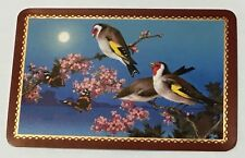 Playing Cards 1 Single Swap Card Old Vintage BUTTERFLY Flowers GOLDFINCH BIRD 2