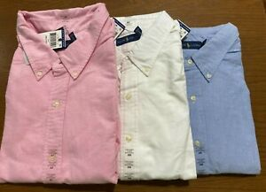 Polo Ralph Lauren Mens BIG AND TALL OXFORD Shirt Brand New Tags White Blue Pink
