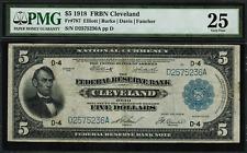 1918 $5 Federal Reserve Bank Note - Cleveland - FR-787 - Graded PMG 25