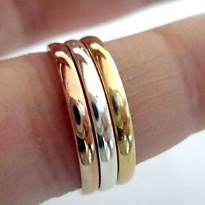 2.5 MM 9kt Solid White/Yellow/Rose Gold Wedding Engagement High Polish Band Ring