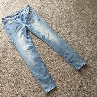 American Eagle Super Stretch Light Wash Skinny Jeggings Jeans Size 8 Long