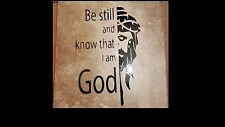 "Religious Home Decor "" Be still and Know that I am God "" Quote on tile"