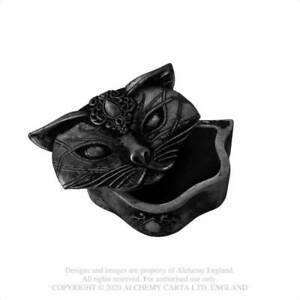 Alchemy Gothic Sacred Cat Matte Black Trinket Box - Gothic,Goth