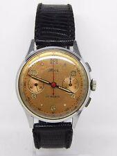 """chronographe en acier """"TELDA"""" mouvement Venus 188 ,vintage chrono"""