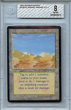 MTG Arabian Nights Desert BGS Graded 8.0 NM-MT Mirage Card  WOTC 4942