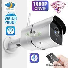1080P Wireless WIFI IP Camera Onvif Outdoor Security IR Cut Audio SD Card Slot
