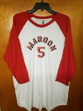 Maroon 5 Shirt Xl 2015 Concert Tour Exclusive Retro Baseball Jersey Look New