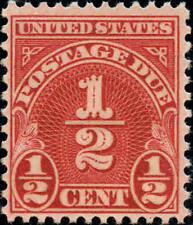 1931 1/2c Postage Due, Scarlet Scott J79 Mint F/VF NH
