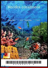 2846 BRAZIL 2002 CORAL REEFS, SEAHORSE, STARFISH, FISH, MI# B118, S/S MNH