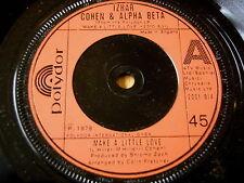 "IZHAR COHEN & THE ALPHA-BETA - MAKE A LITTLE LOVE   7"" VINYL"