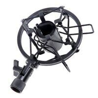 Black Handheld Condenser Microphone Shock Mount Clip Mic Shockmount Dynamic Stud
