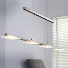 WOFI lámpara colgante LED Darwin 4 Lámparas Níquel regulable altura 19,2 vatios